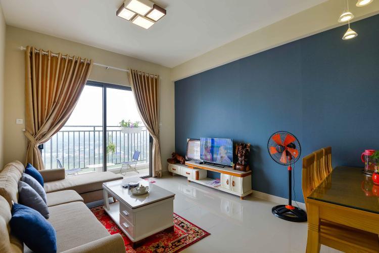 Phòng Khách Cho thuê căn hộ The Sun Avenue 3PN tầng cao Block 1 sở hữu view đẹp, diện tích 90m2, nội thất đầy đủ