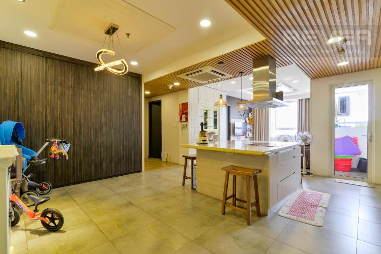 Phòng Khách Bán căn hộ Tropic Garden 3 phòng ngủ tầng cao, đầy đủ nội thất, không gian yên tĩnh, mát mẻ