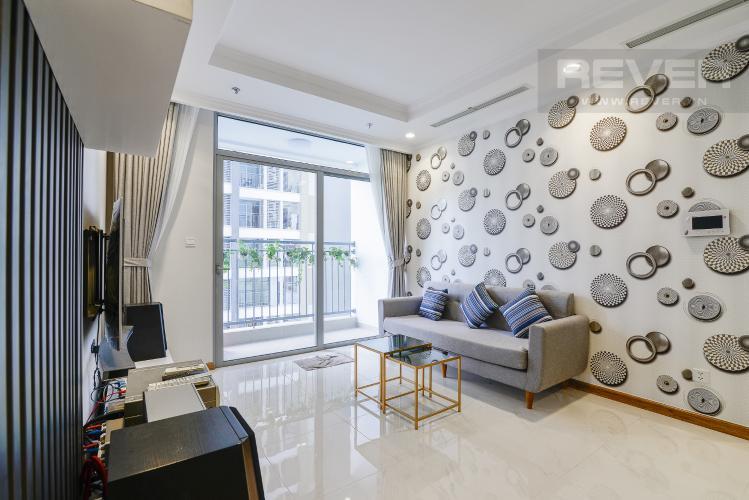 Phòng Khách Căn hộ Vinhomes Central Park 3PN đầy đủ nội thất, có thể dọn vào ở ngay