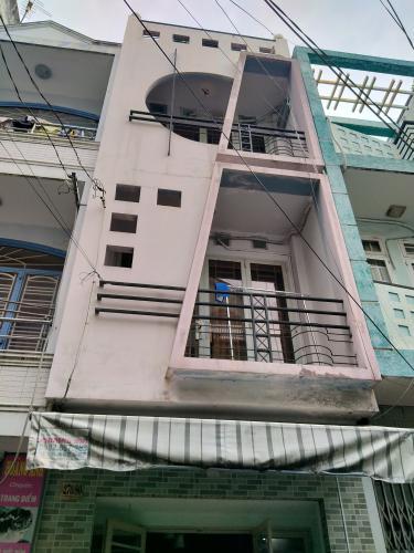 Mặt trước nhà phố Phú Nhuận Bán nhà 4 tầng hẻm Phan Đình Phùng, Phú Nhuận, sổ hồng, cách chợ Phú Nhuận 400m