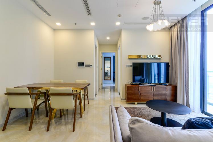 Phòng Khách Căn hộ Vinhomes Golden River tầng cao, 2PN 1WC, nội thất đầy đủ, view sông