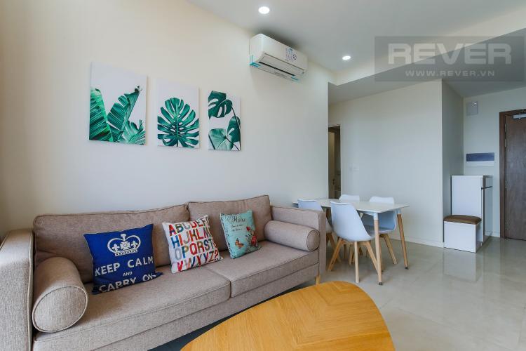 Phòng Khách Cho thuê căn hộ Masteri Millennium tầng trung, 2PN, nội thất đầy đủ