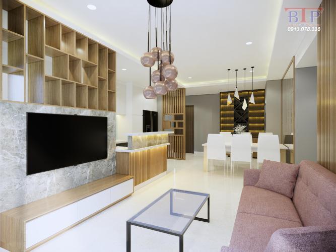 Cho thuê căn hộ The Sun Avenue tầng thấp, 3 phòng ngủ, diện tích 109m2, đầy đủ nội thất.
