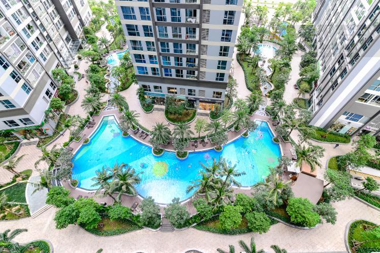 View Căn hộ Vinhomes Central Park 1 phòng ngủ tầng trung P7 view hồ bơi