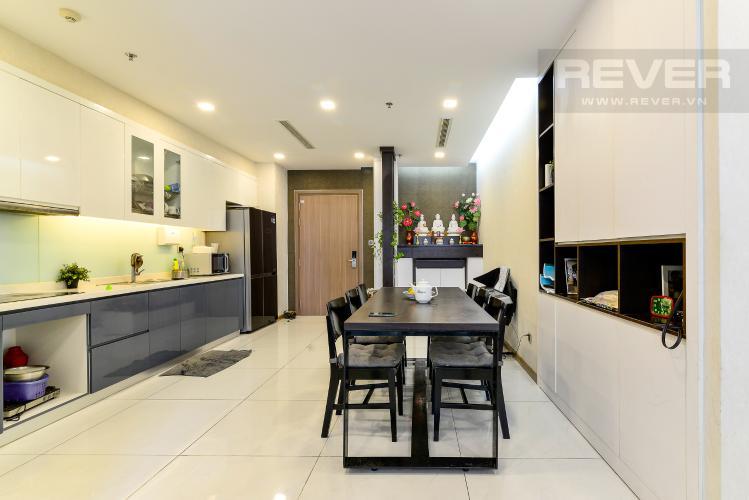 Phòng Ăn & Bếp Bán căn hộ Vinhomes Central Park 2PN, tháp Park 4, đầy đủ nội thất, view hồ bơi nội khu