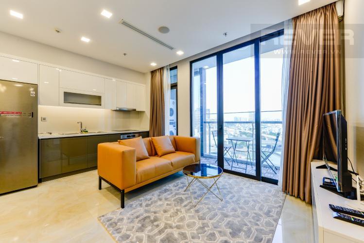 Phòng khách Cho thuê căn hộ Vinhomes Golden River tầng trung 2PN đầy đủ nội thất