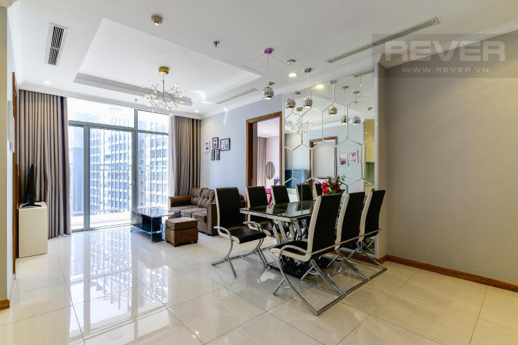 Phòng Khách Căn hộ Vinhomes Central Park 3PN nội thất đầy đủ, view sông Sài Gòn