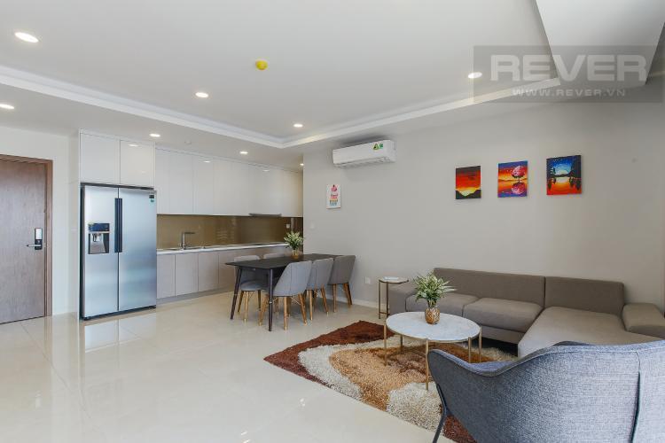 Phòng khách căn hộ Masteri Millennium Bán căn hộ Masteri Millennium diện tích 105m2