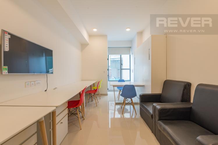 Phòng khách Căn hộ The Tresor 1 phòng ngủ tầng thấp TS1 nội thất đầy đủ
