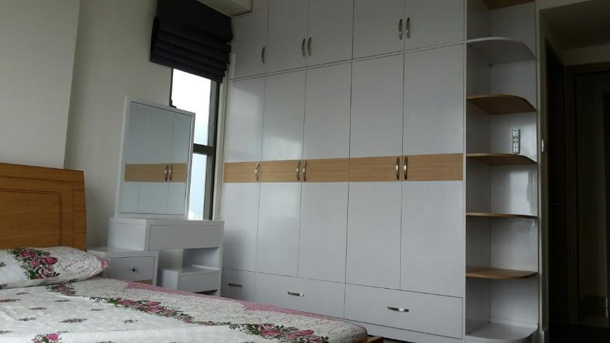 không gian phòng ngủ căn hộ The Sun Avenue Cho thuê căn hộ tầng trung view sông, nội thất cơ bản The Sun Avenue