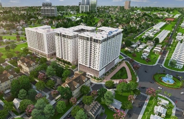 Toàn cảnh Sky 9, Quận 9 Căn hộ Sky 9 nội thất cơ bản, view nội khu thoáng mát.
