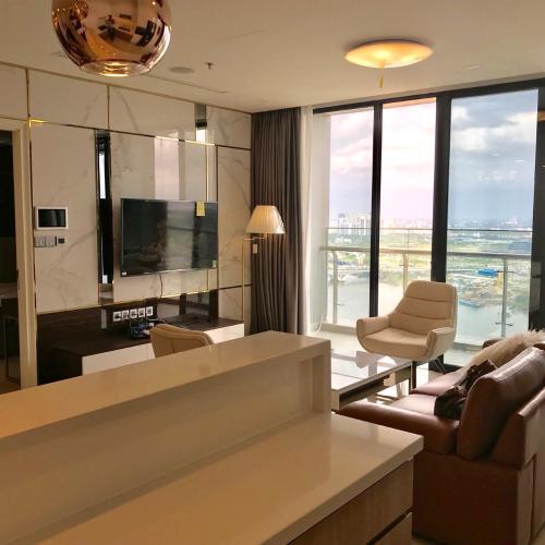 Phòng khách , Căn hộ vinhomes Golden River , Quận 1 Căn hộ Vinhomes Golden River tầng 3 view thoáng mát, đầy đủ nội thất.