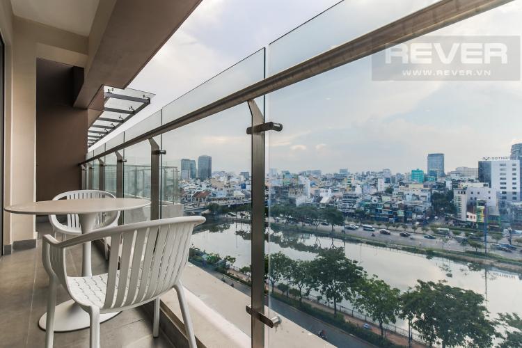 Balcony Cho thuê căn hộ Masteri Millennium 3PN, diện tích 107m2, đầy đủ nội thất, view Bitexco