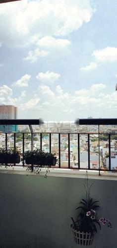 Ban công Quang Thái Tower, Tân Phú Căn hộ Quang Thái Tower tầng trung, đầy đủ nội thất, view thành phố.