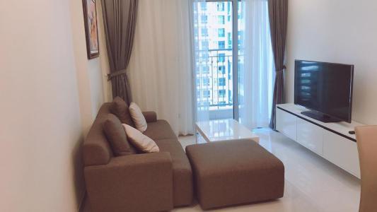 Bán officetel Vinhomes Central Park 1PN, tầng 19, đầy đủ nội thất, ban công Đông Bắc