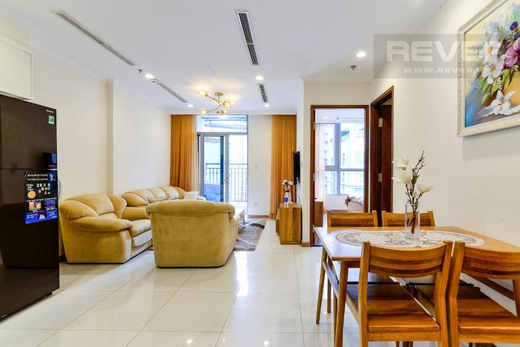 Phòng Khách Bán căn hộ Vinhomes Central Park 1PN, tháp The Central 2, đầy đủ nội thất, hướng Đông Bắc
