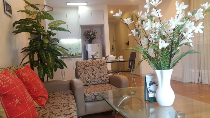Phòng khách , Căn hộ The Manor , Quận Bình Thạnh Căn hộ The Manor 1 phòng ngủ, nội thất đầy đủ.