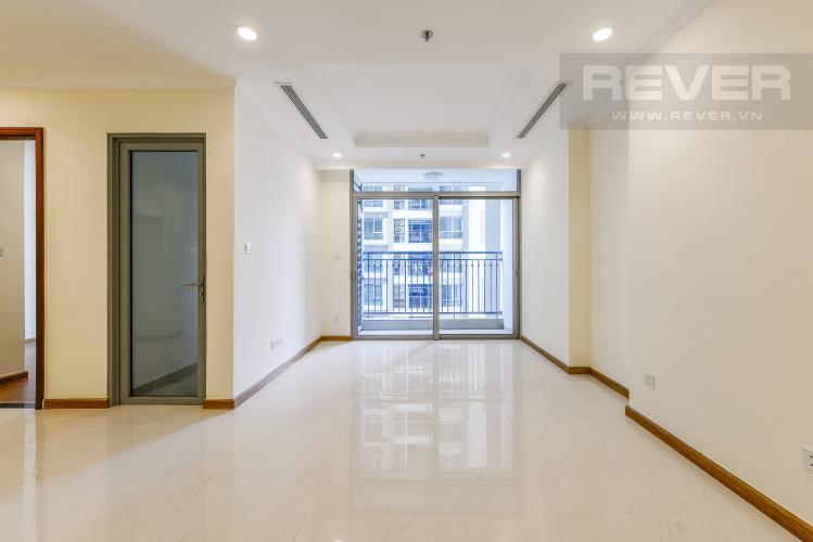 Phòng Khách Căn hộ Vinhomes Central Park 2 phòng ngủ tầng trung L4 hướng Đông Bắc