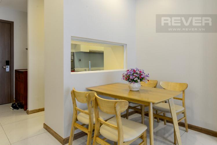 Phòng Ăn Cho thuê căn hộ Vinhomes Central Park 2PN, đầy đủ nội thất, view sông, hướng Đông Nam đón gió