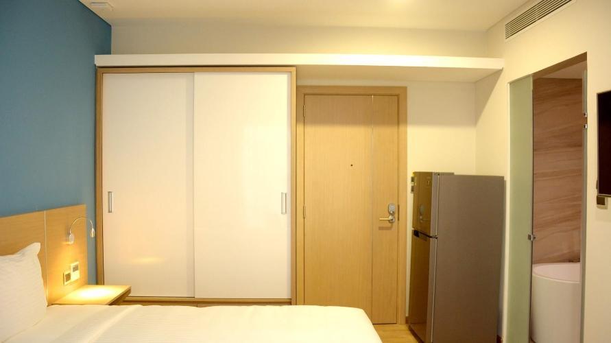 Phòng ngủ căn hộ dịch vụ Căn hộ dịch vụ Kim Residence đầy đủ nội thất, view thoáng mát.