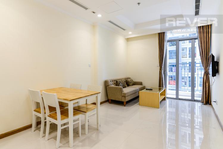 Phòng Ăn Căn hộ Vinhomes Central Park 1 phòng ngủ tầng trung L5 nội thất đầy đủ