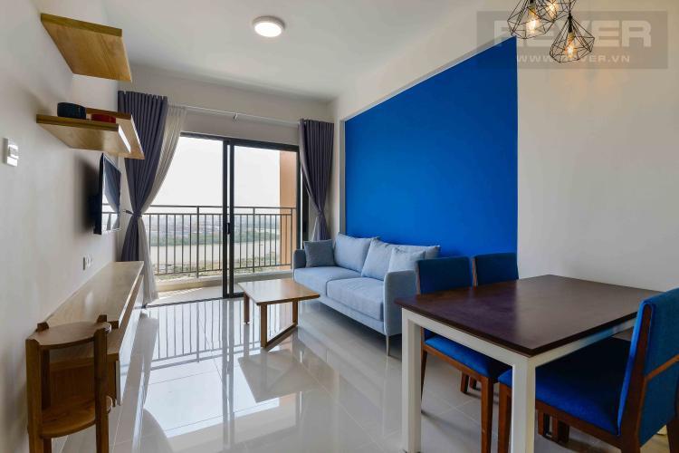 Phòng Khách Cho thuê căn hộ The Sun Avenue 2PN, block 1, diện tích 71m2, đầy đủ nội thất
