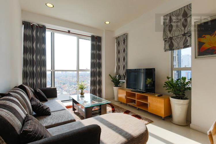 Phòng Khách Căn hộ Sunrise City 2 phòng ngủ tầng thấp V5 đầy đủ tiện nghi