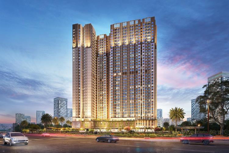 Tổng quan dự án Opal Skyline Căn hộ Opal Skyline tầng trung, nội thất cơ bản.