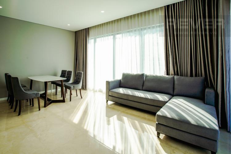 Phòng Khách Bán hoặc cho thuê căn hộ Đảo Kim Cương 3PN tầng cao tháp Maldives, đầy đủ nội thất, view sông và Bitexco