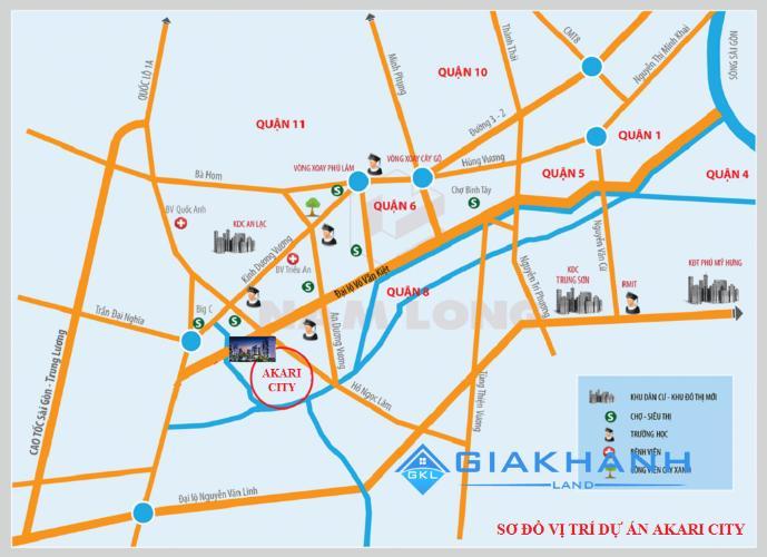 Vị trí Akari City Căn hộ tầng trung Akari City view mát mẻ, thông thoáng.