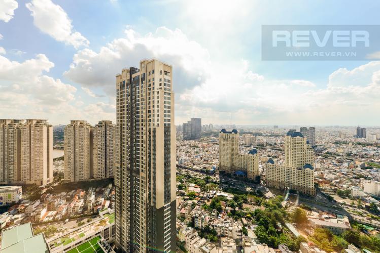 View Căn hộ Vinhomes Central Park tầng cao 2PN thiết kế đẹp, nội thất đầy đủ