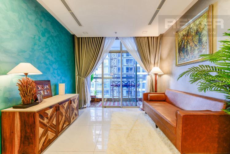Phòng khách Căn hộ Vinhomes Central Park tầng trung, tháp Park 5, 2 phòng ngủ, full nội thất