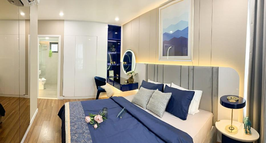 Phòng ngủ căn hộ Precia, Quận 2 Căn hộ tầng cao Precia view thoáng mát, nội thất cơ bản.