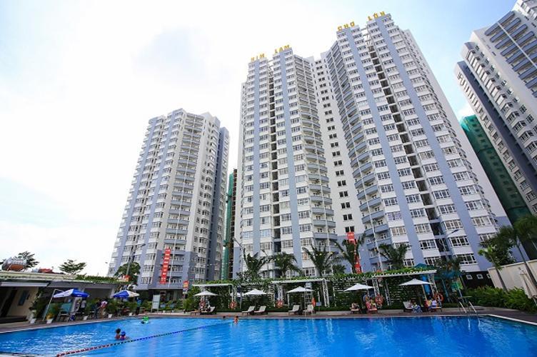 Him Lam Chợ Lớn, Quận 6 Căn hộ Him Lam Chợ Lớn tầng cao đón view hồ bơi đủ nội thất.