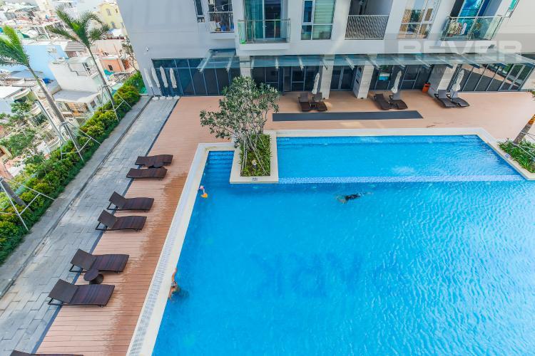 View Hồ Bơi Cho thuê căn hộ 607B Rivera Park Sài Gòn 2PN, nội thất đầy đủ, view hồ bơi