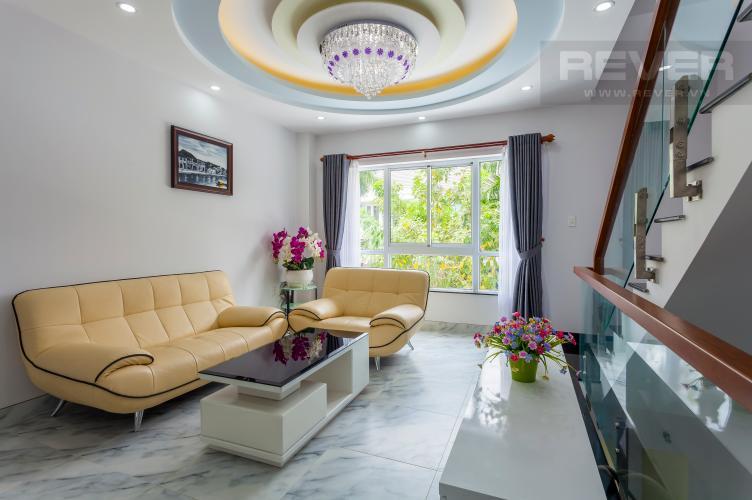 Phòng khách 2 Nhà phố khu compound Mega Khang Điền Quận 9 nội thất đầy đủ
