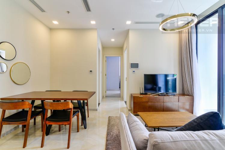 Phòng Khách Căn hộ Vinhomes Golden River tầng cao, 2PN, đầy đủ nội thất, view sông thoáng đãng