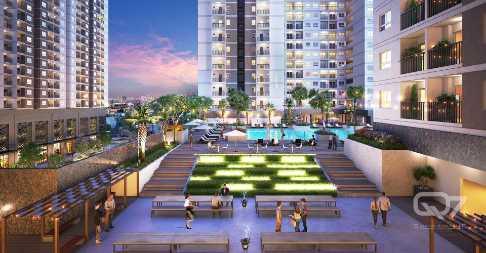 Nội khu căn hộ Q7 Saigon Riverside Bán căn hộ Q7 Saigon Riverside tầng thấp, tháp Uranus, diện tích 53m2 - 1 phòng ngủ, chưa bàn giao