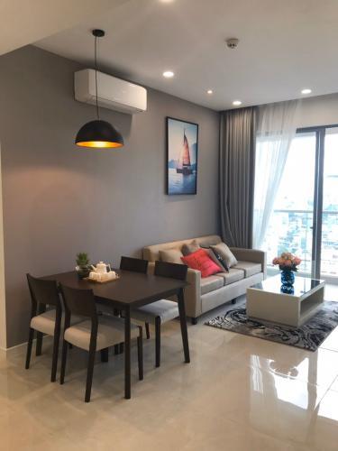 Cho thuê căn hộ Masteri Millennium 2PN, block A, đầy đủ nội thất, view Bitexco và kênh Bến Nghé