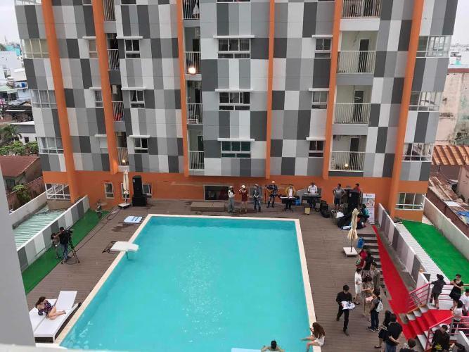 Hồ bơi I-Home 1, Gò Vấp Căn hộ I-Home 1 tầng 4, 2 phòng ngủ, view nội khu hồ bơi.