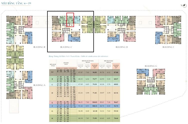 Bán căn hộ Saigon South Residence 2 phòng ngủ và 2 toilet, tầng thấp diện tích 74m2