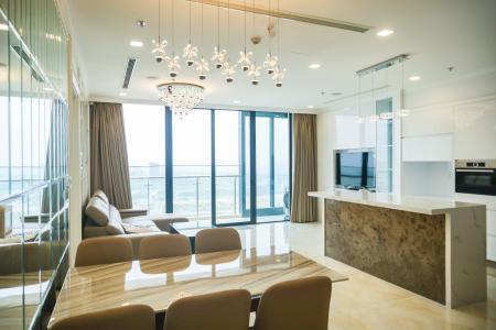 Cho thuê căn hộ Vinhomes Golden River tầng cao, đầy đủ nội thất, view Sài Gòn và Bitexco