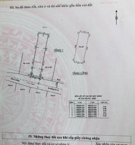 Bản vẻ nhà phố Quận Gò Vấp Nhà phố Q.Gò Vấp diện tích đất 3.01m x13.95m, nội thất cơ bản.