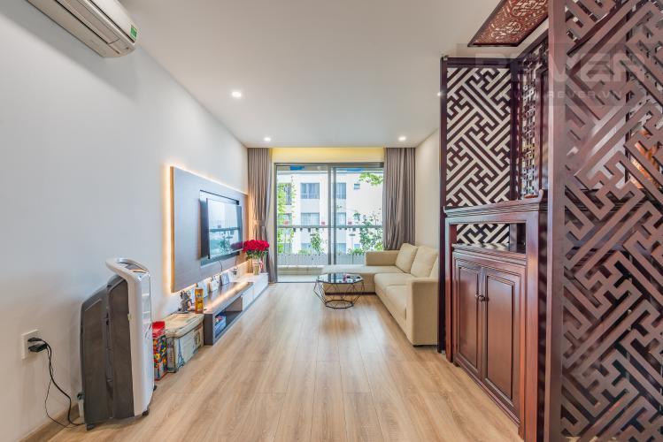 Phòng khách Bán căn hộ The Gold View Quận 4, tầng thấp, 2PN, đầy đủ nội thất