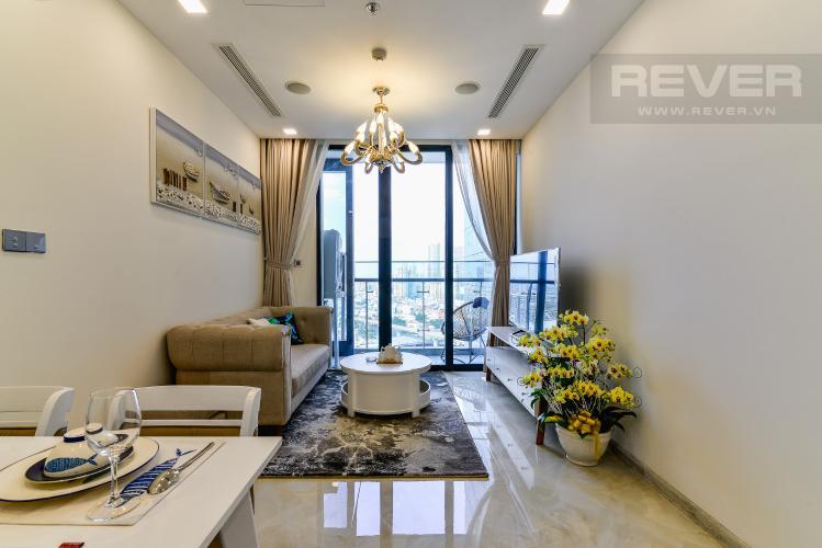 Phòng Khách Cho thuê căn hộ Vinhomes Golden River tầng cao, 1PN, đầy đủ nội thất