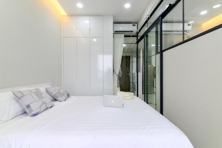 Phòng ngủ căn hộ MASTERI AN PHÚ Cho thuê căn hộ Masteri An Phú 1PN, tầng 5, đầy đủ nội thất, view hồ bơi