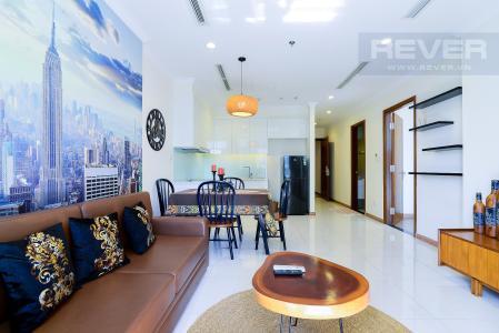 Cho thuê căn hộ Vinhomes Central Park 1PN, đầy đủ nội thất, ban công hướng Nam, view mé sông