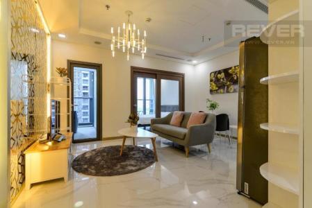 Cho thuê căn hộ Vinhomes Central Park 1 phòng ngủ, tháp Landmark 81, đầy đủ nội thất, view Xa lộ Hà Nội