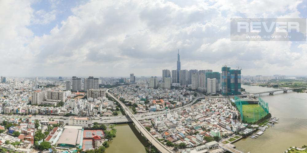 View Bán căn hộ Vinhomes Golden River 2PN, tháp The Aqua 4, đầy đủ nội thất, view sông Sài Gòn và Landmark 81
