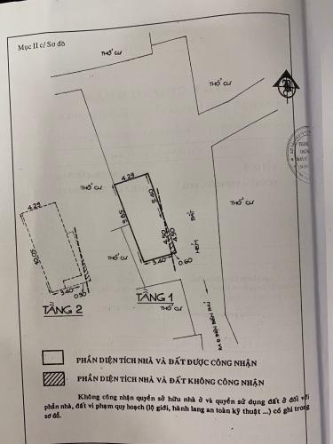 Bản vẽ nhà phố Điện Biên Phủ, Bình Thạnh Nhà phố hẻm 3m hướng Đông Bắc, khu dân cư yên tĩnh an ninh.
